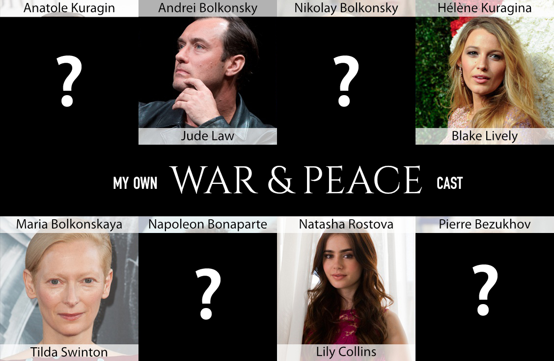 Pick your dream cast for a Hollywood 'War and Peace'