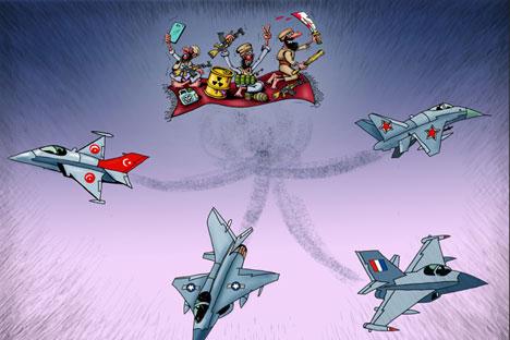 Turbulence over Syria's skies