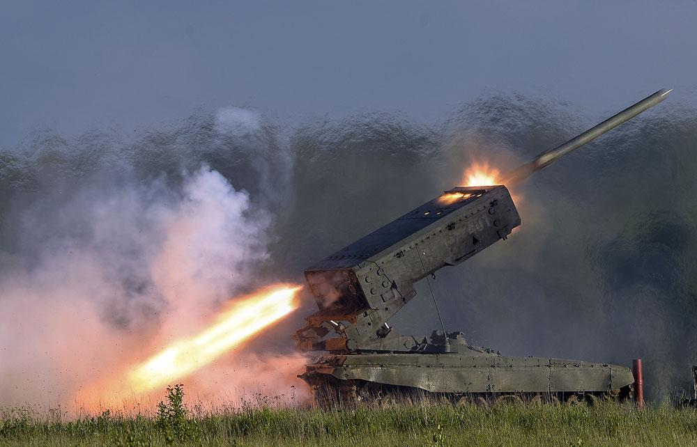 Težki sistem poltonskega ognja TOS-1 Buratino. Vir: Aleksander Vilf, RIA Novosti