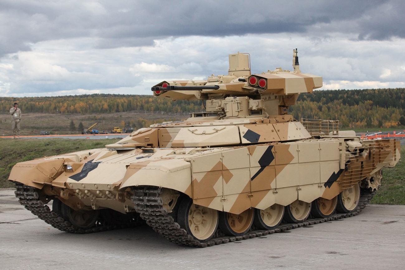 Terminator-2 na desetem mednarodnem salonu Russia Arms Expo – 2015. Vir: Vladislav Belogrud, TASS.