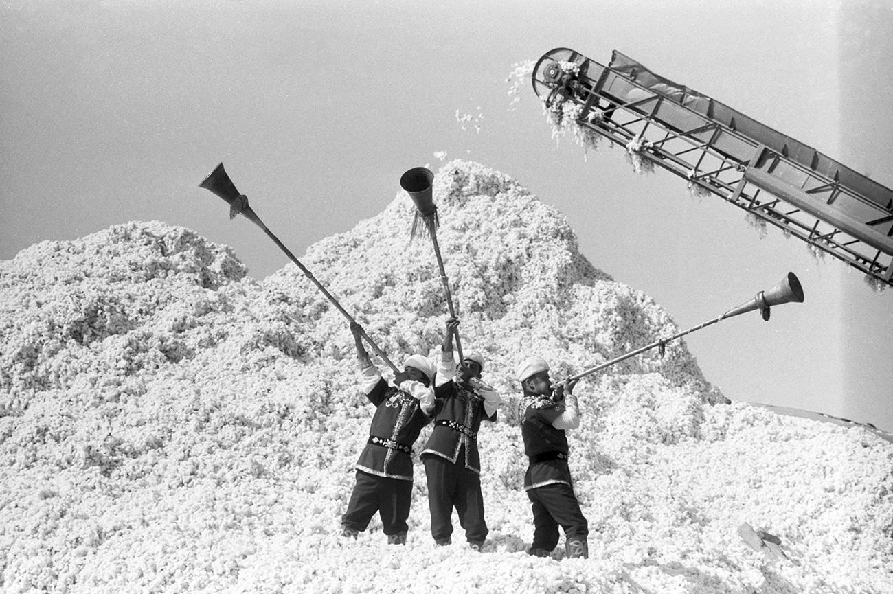 КАШИРСКАТА СТЕПА, УЗБЕКИСТАН, 1982. ИЗВОР: РУСТАМ ШАГАЈЕВ, Ш. ШАРАПОВ/TAСС