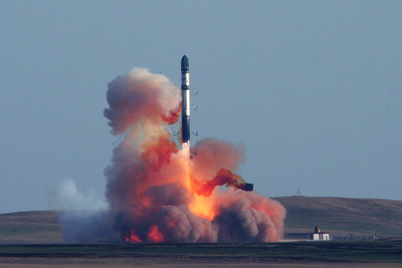 Medcelinska balistična raketa RS-20V Vojvoda. Vir: mil.ru