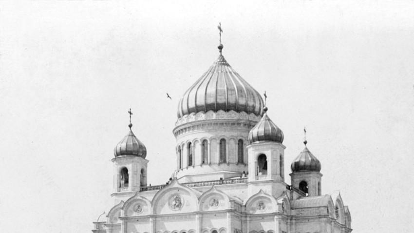 Die Christ-Erlöser-Kathedrale im Jahr 1903