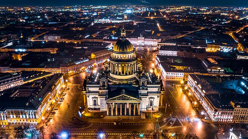 Vista aérea da Catedral de Santo Isaac