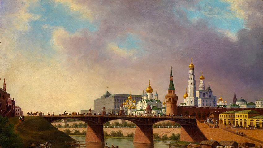 The Moscow river.
