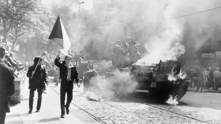 Sowjetische Truppen in der Tschechoslowakei