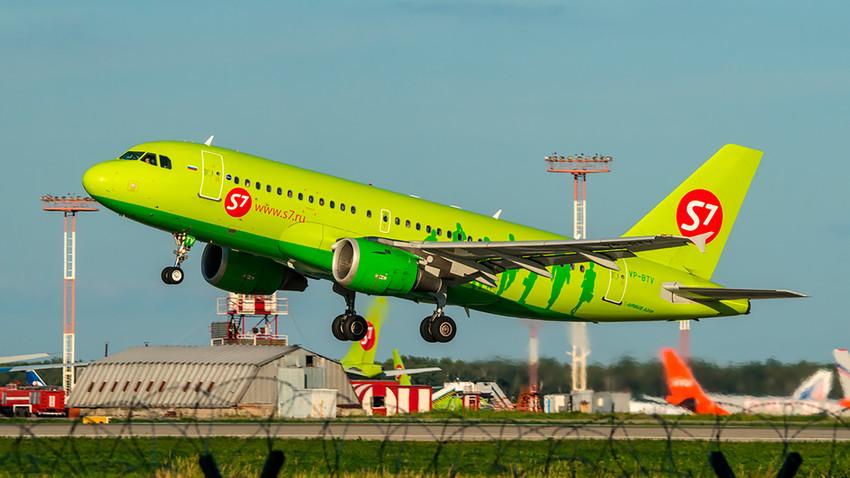 Un avion de la compagnie aérienne russe S7 Airlines.