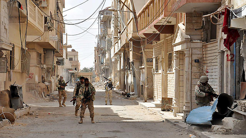 Tentara pemerintah Suriah.