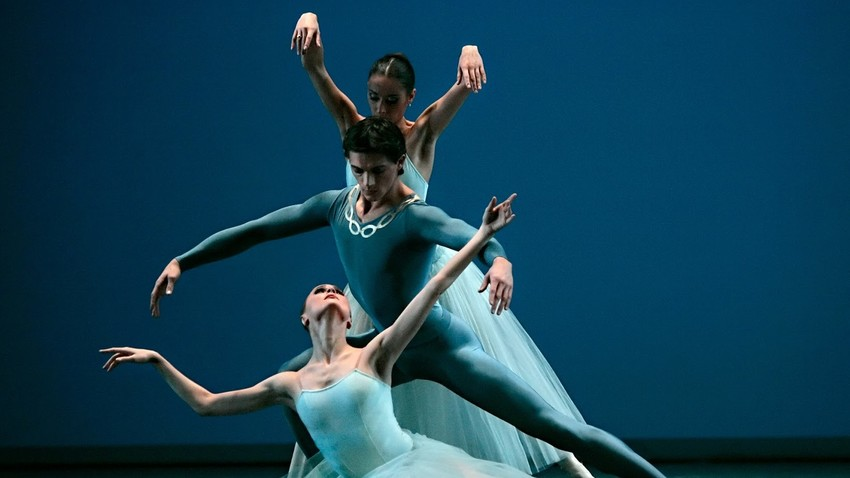 Pyotr Tchaikovsky's one act ballet Serenade with choreography by George Balanchine in the Bolshoi Theater.