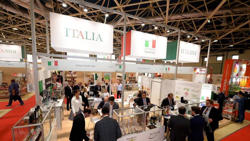 Il padiglione italiano della World Food Moscow