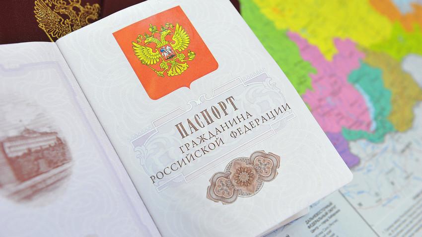 Пасош држављанина Русије.