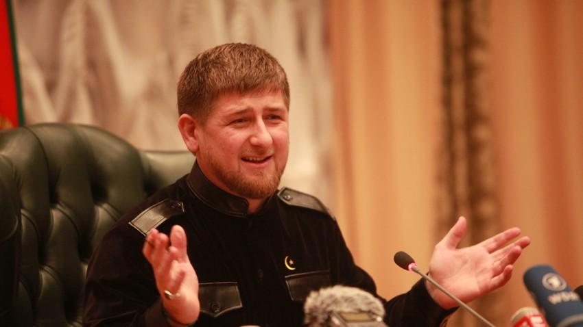 Pemimpin Republik Chechnya Ramzan Kadyrov.