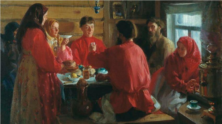 V kmečki hiši. / I. Kulikov