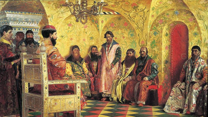 Michail Fjodorowitsch und die Bojarenduma von Andrej Rjabuschkin, 1893