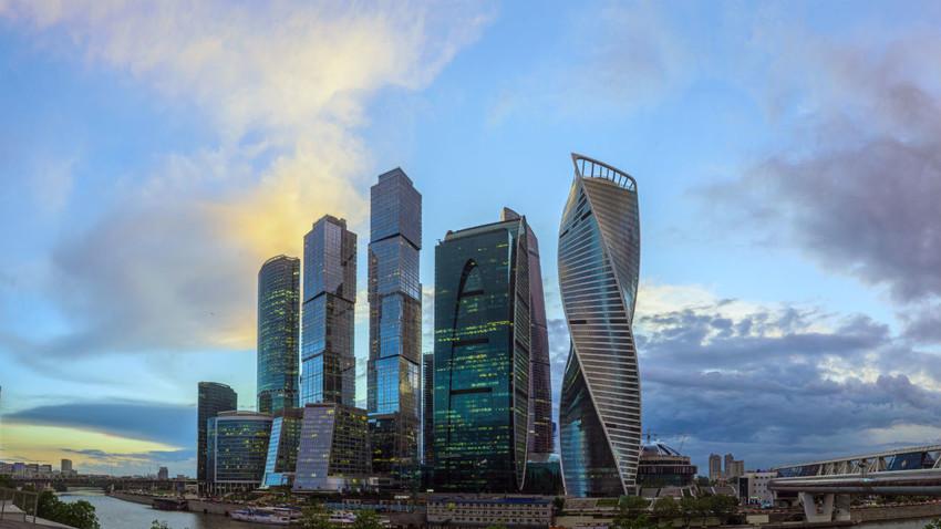 Kompleks Pusat Bisnis Internasional di Moskow.