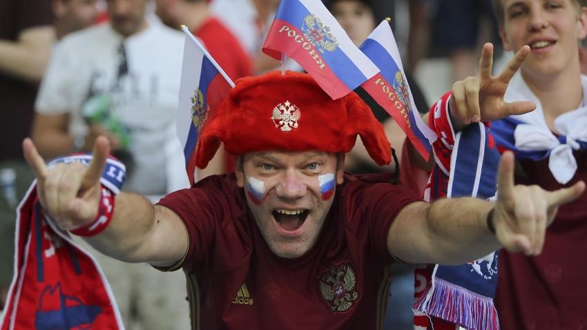 Penggemar sepak bola Rusia
