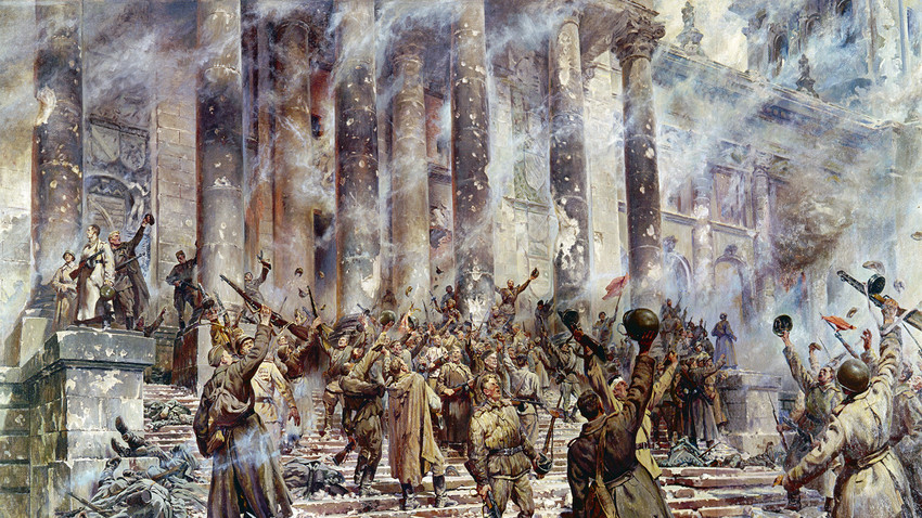 「勝利の日」、P.クリヴォノーソフ画(1913年〜1967年)
