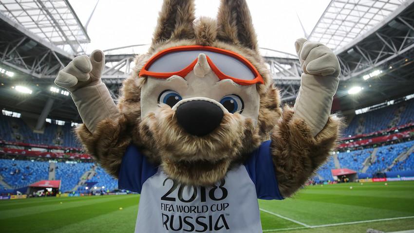Вълкът Забивака – талисманът на Световното първенство през 2018 г.