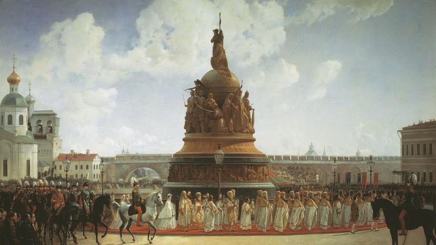 Die Festlichkeiten 1862, ein Gemälde von Bogdan Willewalde