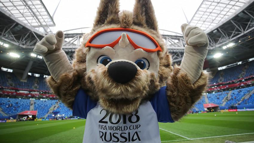 Lobo Zabivaka é o mascote oficial da Copa de 2018