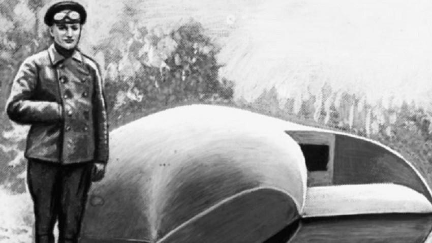 "Прототип на танка ""Вездеход"", 1915 г."