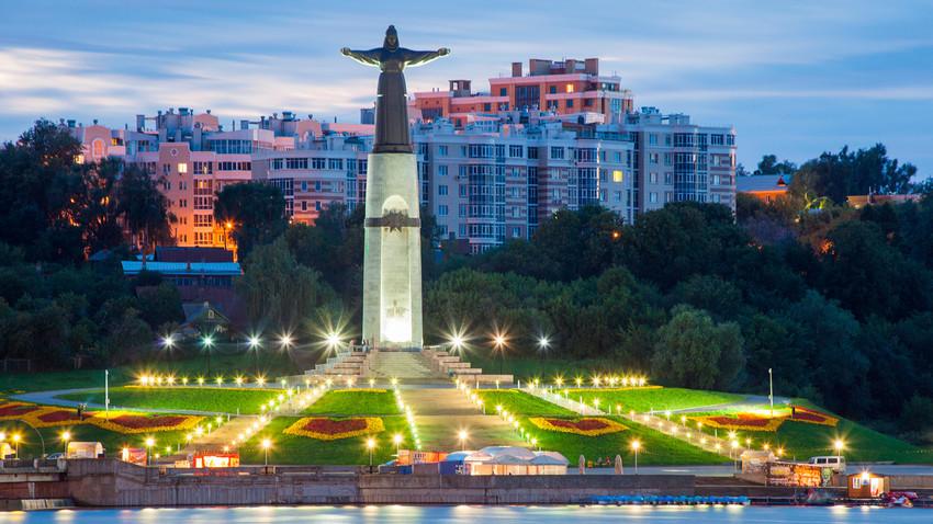 La statua della Madre Patria a Cheboksary