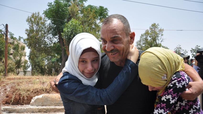 Pertemuan kembali dengan anggota keluarga setelah pembebasan wilayah-wilayah Suriah dari ISIS.