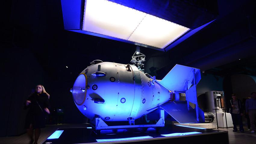 Rosatom präsentiert Ende August die RDS-1 Atombombe aus Sowjetzeiten zu ihrem 65. Jahrestag in einer Multimediaausstellung.