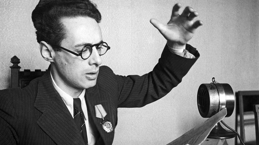 Speaker of the All-Union Radio Yuri Levitan.