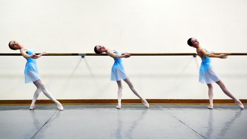 Učna ura na Akademiji za balet Bolšoj teatra.