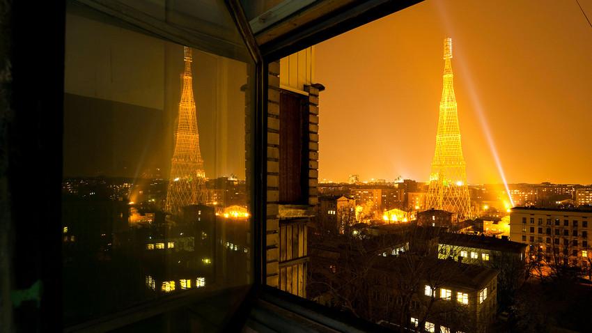 La torre de Shújov en Moscú.