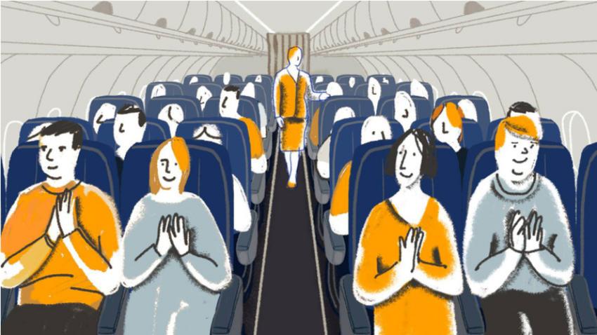 Zakaj Rusi na letalu ploskajo?