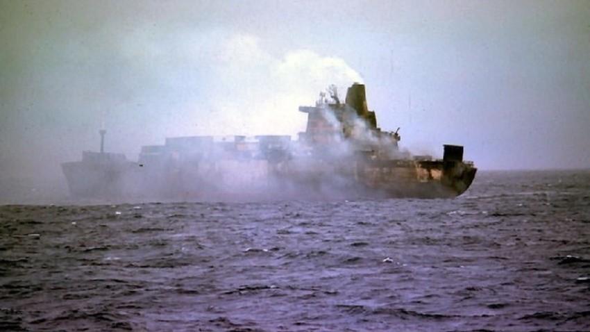 Ladja Atlantic Conveyor, ki so jo zadele rakete.