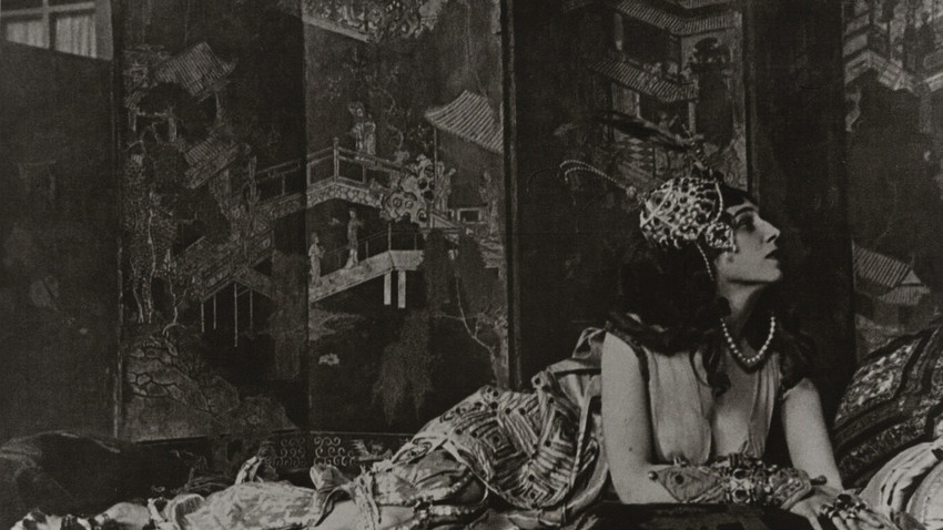 Fotografie eines unbekannten Autors für das Russsiche Ballett, 1910