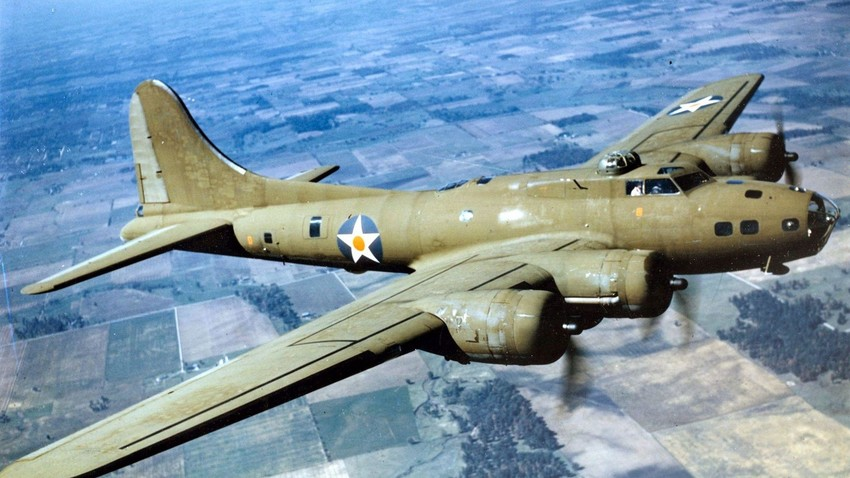 Полет на B-17E през 1942 г.