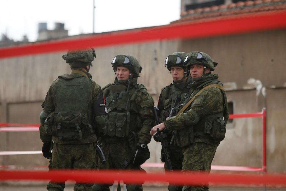 Ruski vojaki v sirskem mestu Homs.