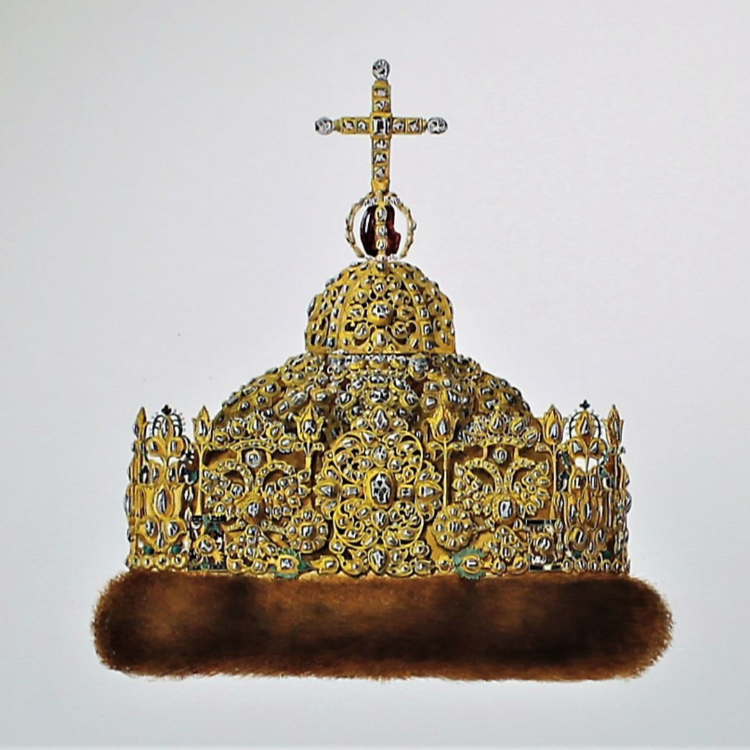 Couronne de diamants du tsar Ivan Alexeïevitch (1682-1687). La couronne de diamants fut fabriquée vers 1687 par les artisans russes de Palais des Armures.