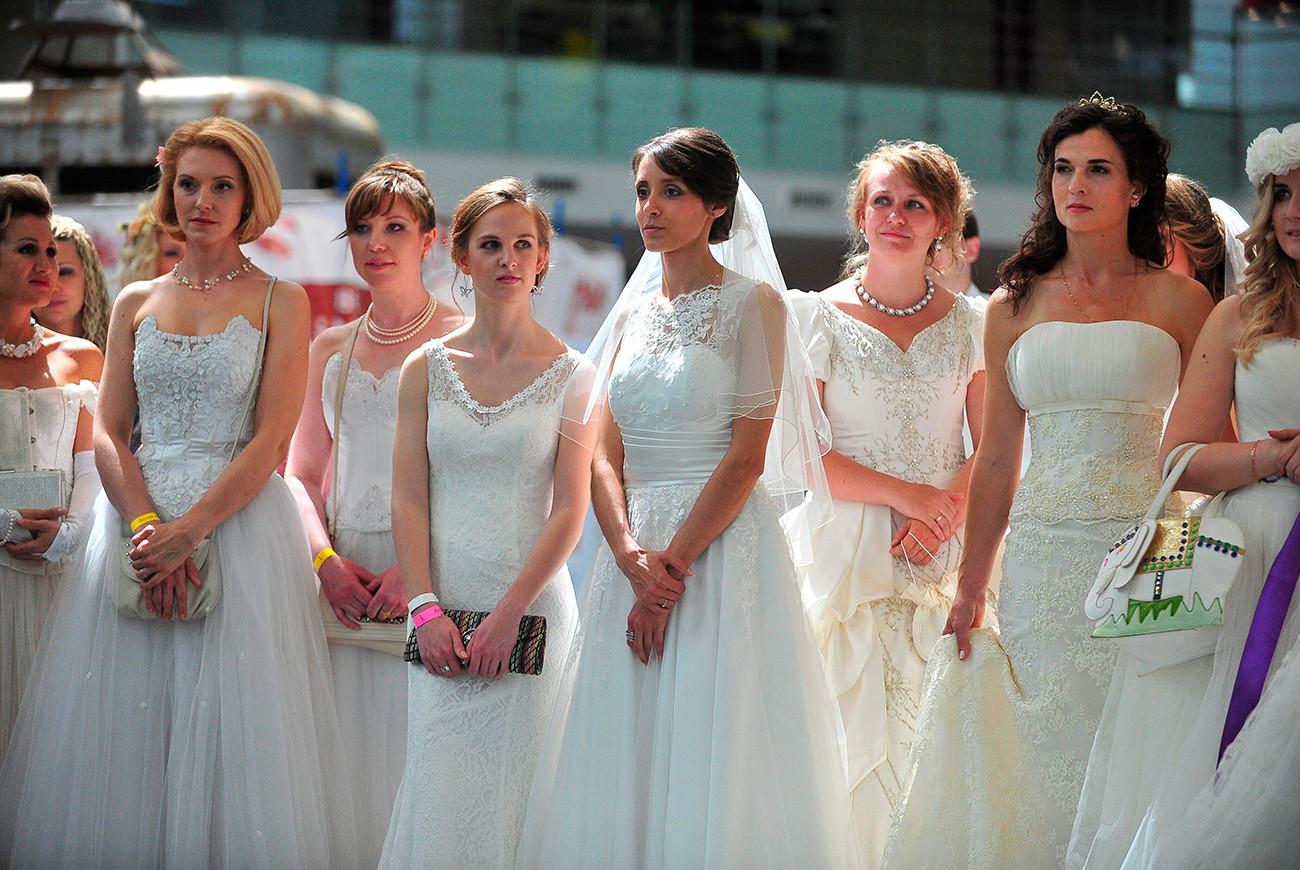 モスクワの花嫁パレード=