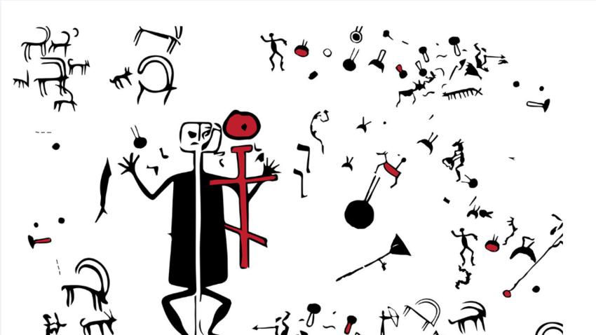 Petroglif s podobo