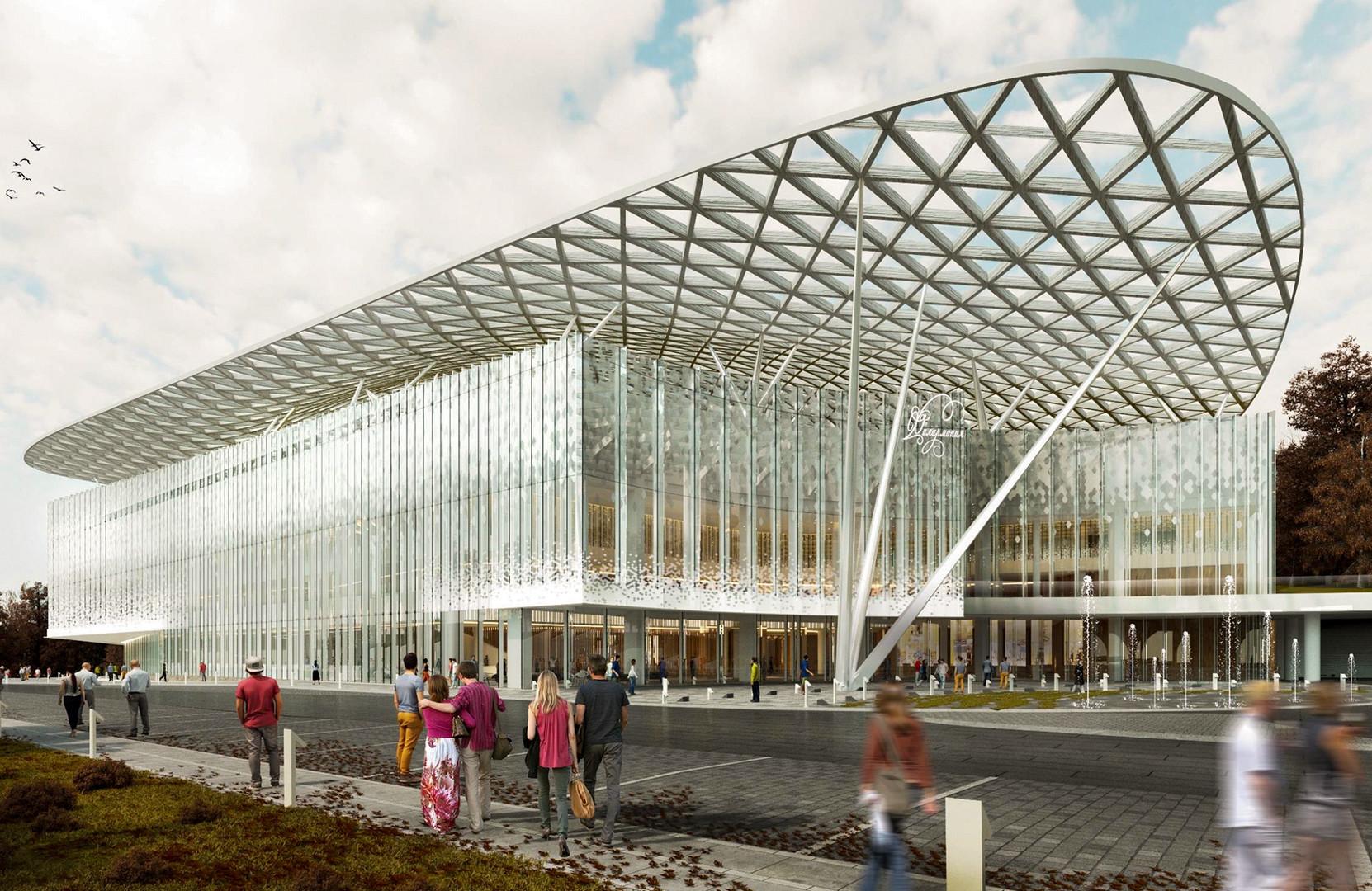 Nova Filharmonijska dvorana, park Zarjadje, Moskva