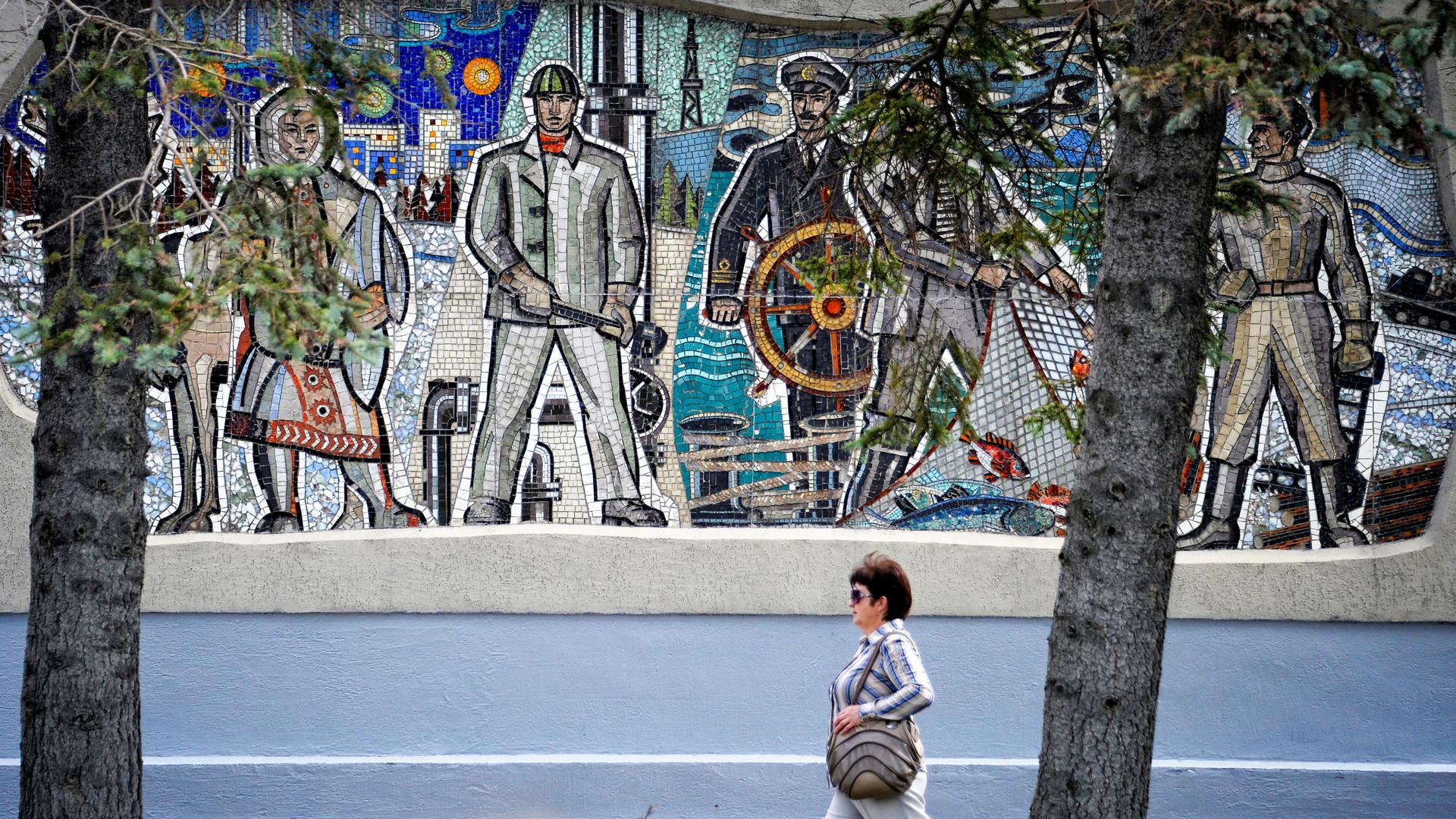 Mosaico a Yuzhno-Sakhalinsk