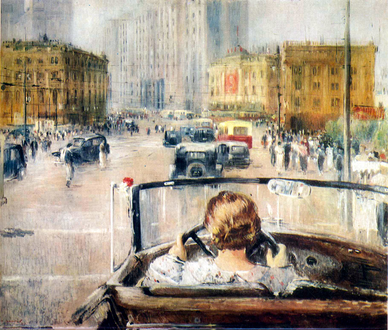 Yuri Pimenov. New Moscow.  1937.