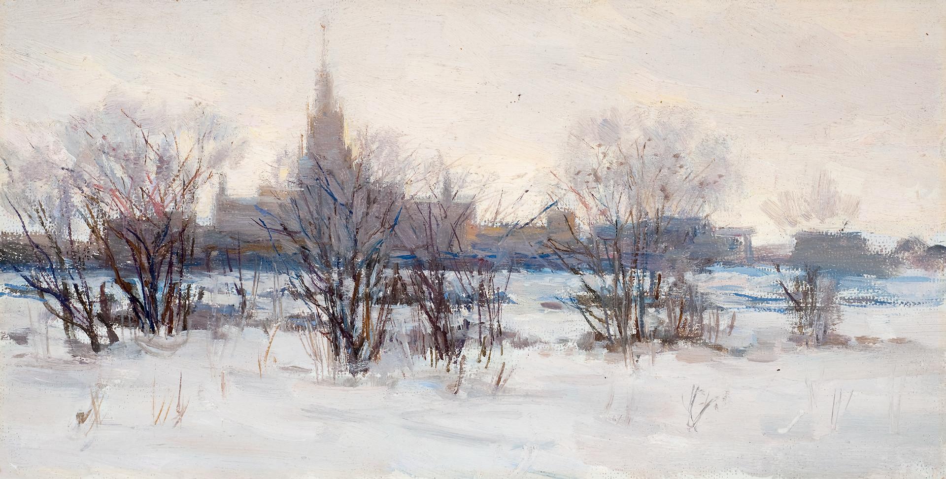 Konstantin Dorokhov. Moscow. University. 1953.
