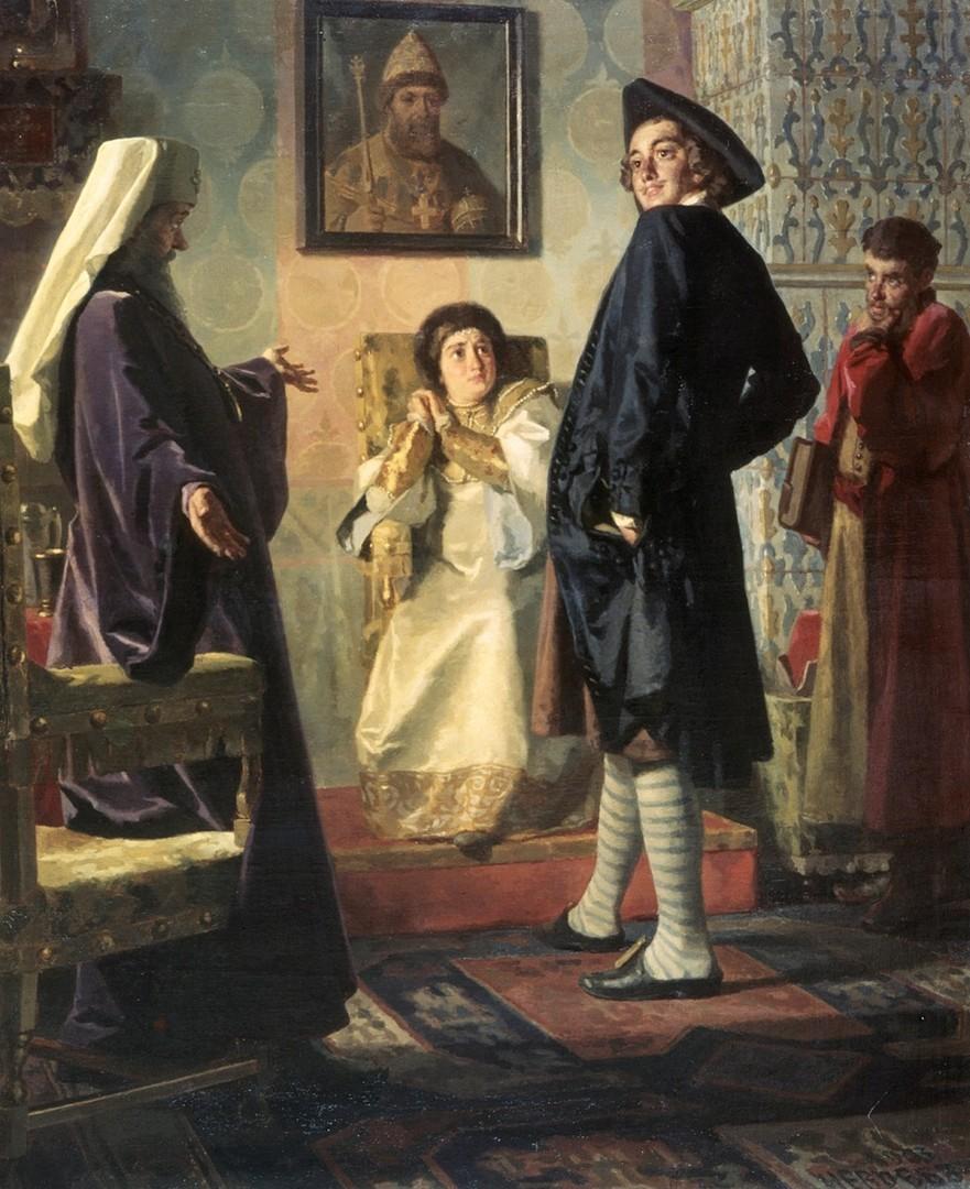 Петар I во европска облека. Ставрополски музеј на ликовните уметности