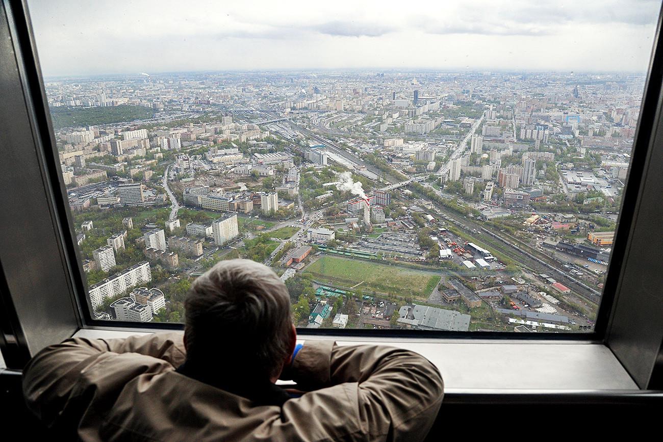 Гледка от кулата.