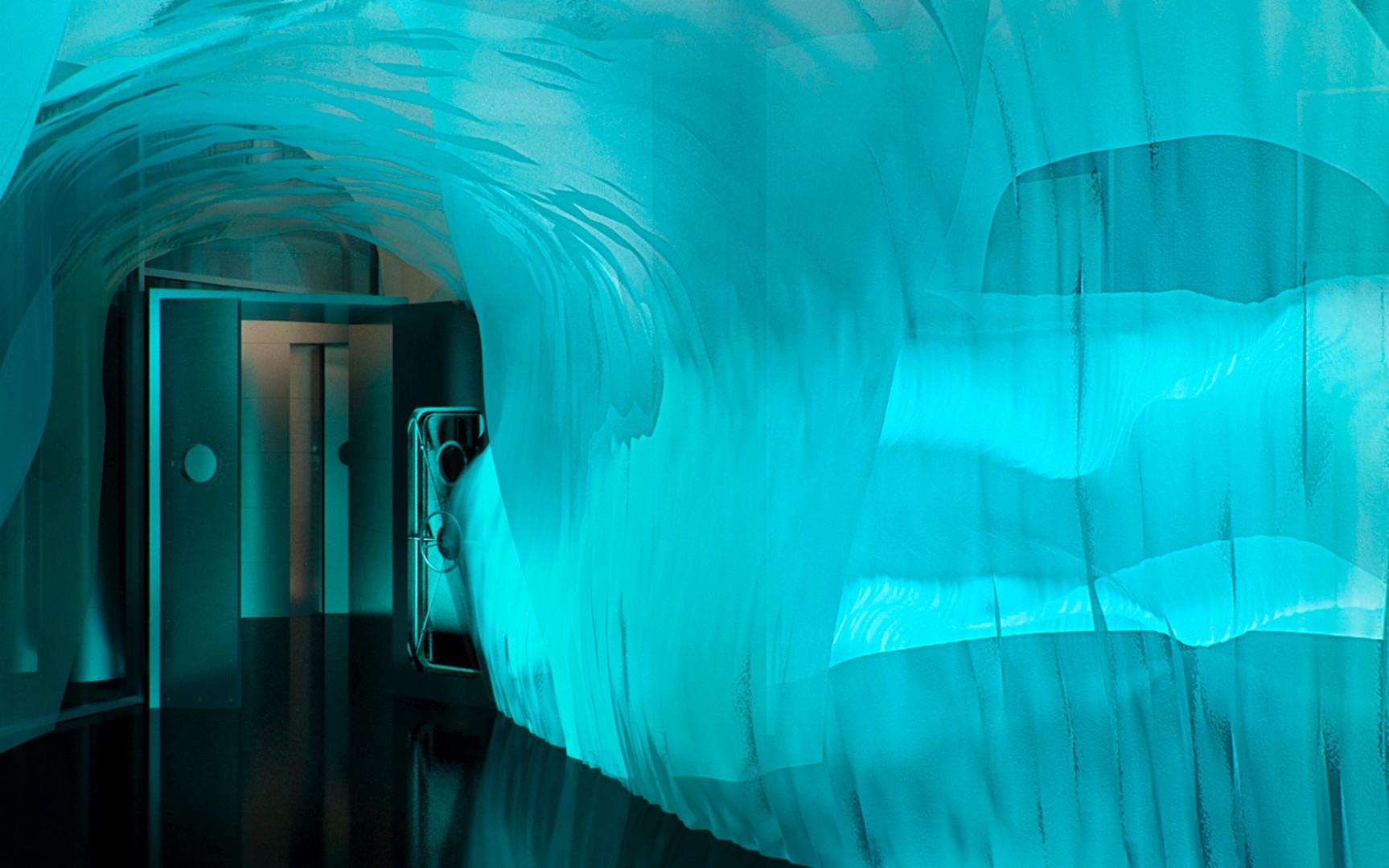 Seminários e conferências são planejados na caverna, mantida a uma temperatura entre 2 e 5 graus Celsius negativos.