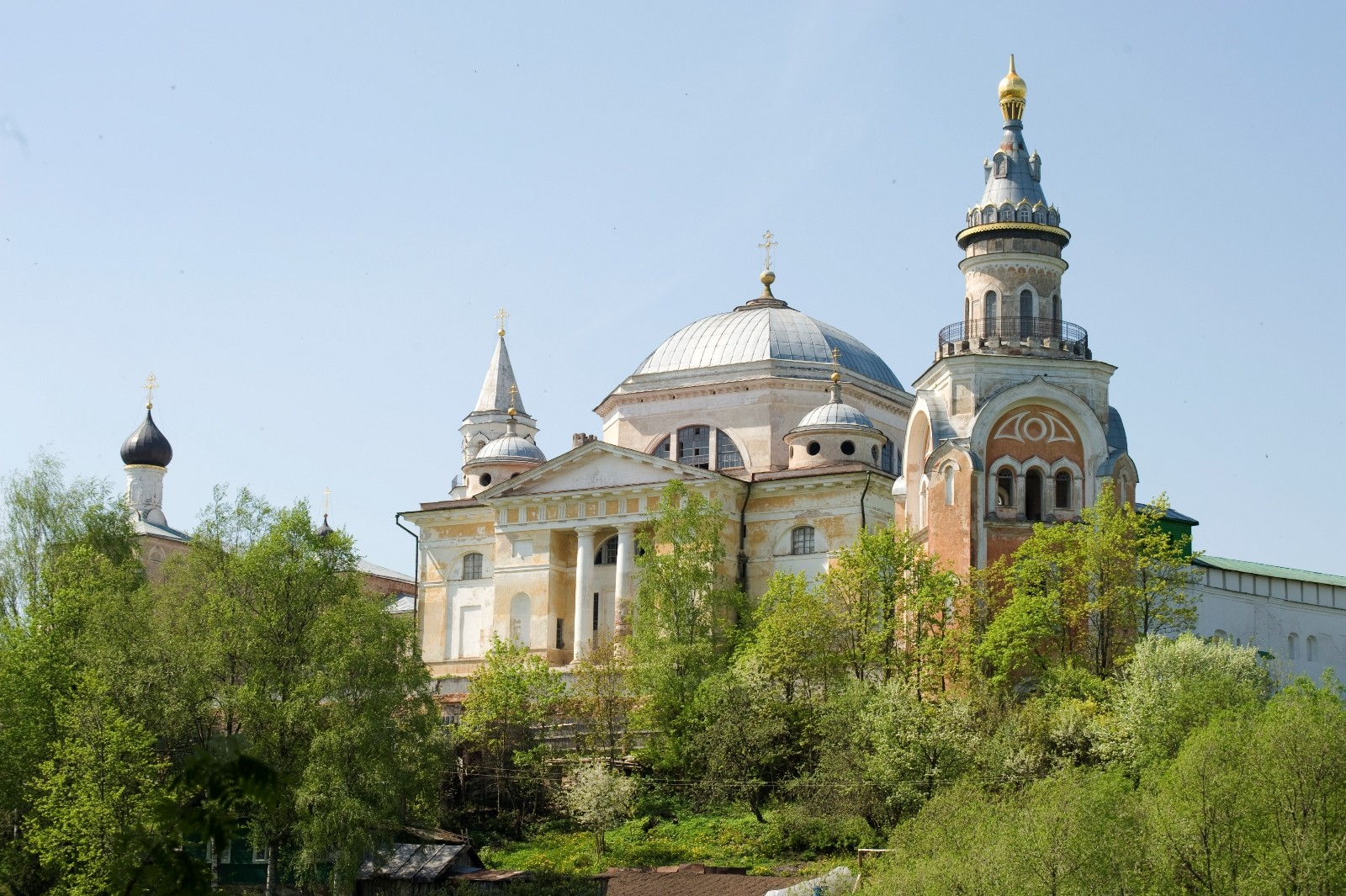 Monastery of Sts. Boris & Gleb. From left: Church of the Presentation, Cathedral of Sts. Boris & Gleb,