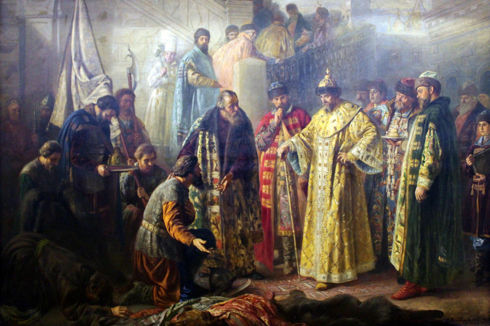 Jermaks Boten vor Ivan dem Schrecklichen