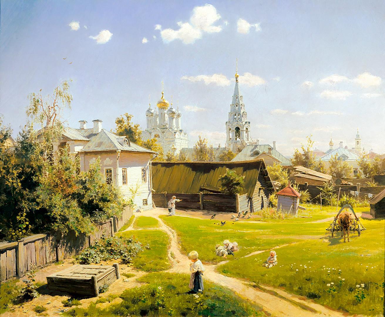 Vassili Polenov. Une arrière-cour à Moscou. 1878.