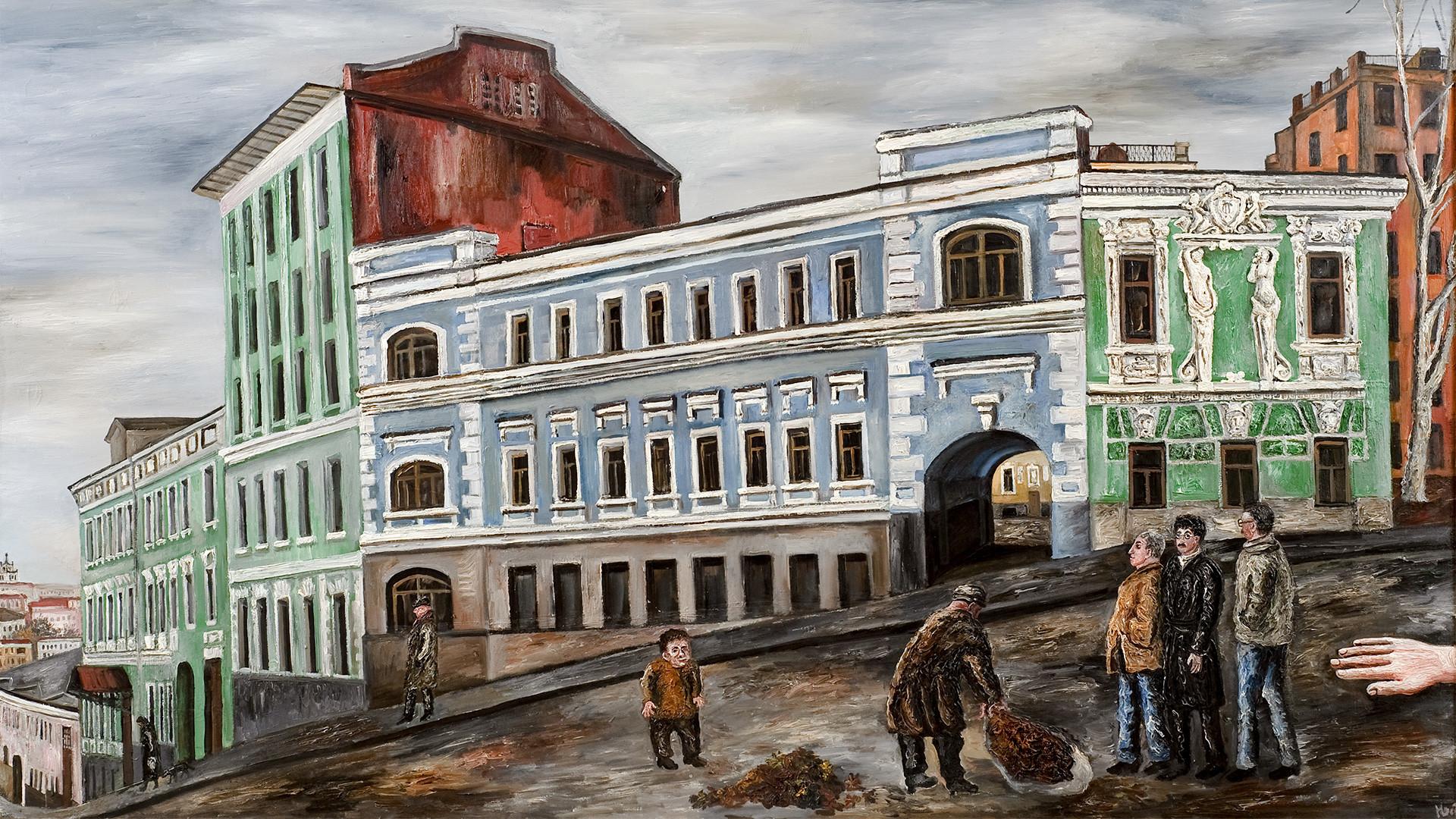 Evgueni Oks. Les rues du vieux Moscou. 1960.
